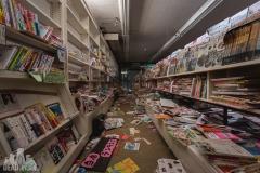 deadinside, urbex, exclusion zone, japan, dead inside, natalia sobanska, abandoned,fukushima exclusione zone,fukushima, bookstore (1 of 4)